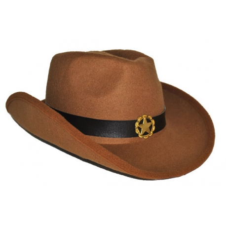 Cappello Cow Boy Western marrone