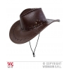 cappello cowboy ecopelle marrone Far West