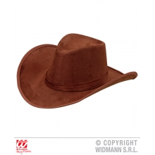 Cappello cowboy marrone Far West Western