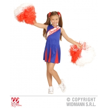 Costume Cheerleader bambina ragazza Pompon