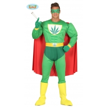 Costume Supereroe Marijuana torrianishop travestimento Supe eroe