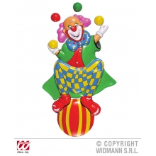 DECO CLOWN SU PALLONE 3D h 100 cm