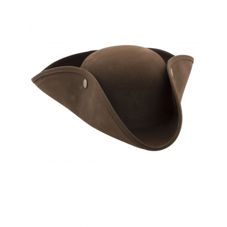 Cappello tricorno pirata marrone b64654db12b0