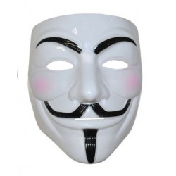 Maschera V per Vendetta plastica Anonymous Guy Fawkes mask