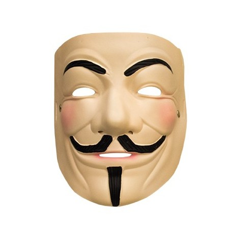 Maschera V per Vendetta, V for Vendetta, in lattice lattex , Anonymous, Guy Fawkes,